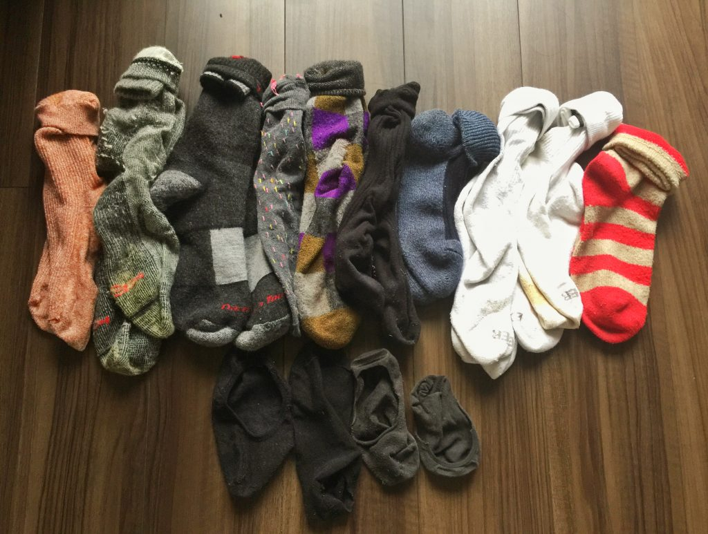 All my socks.
