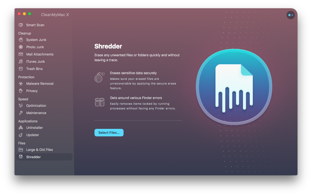 Is CleanMyMac safe when it comes to file deletion? It'll be safer to delete with the Shredder that prevents possibility of recovery.