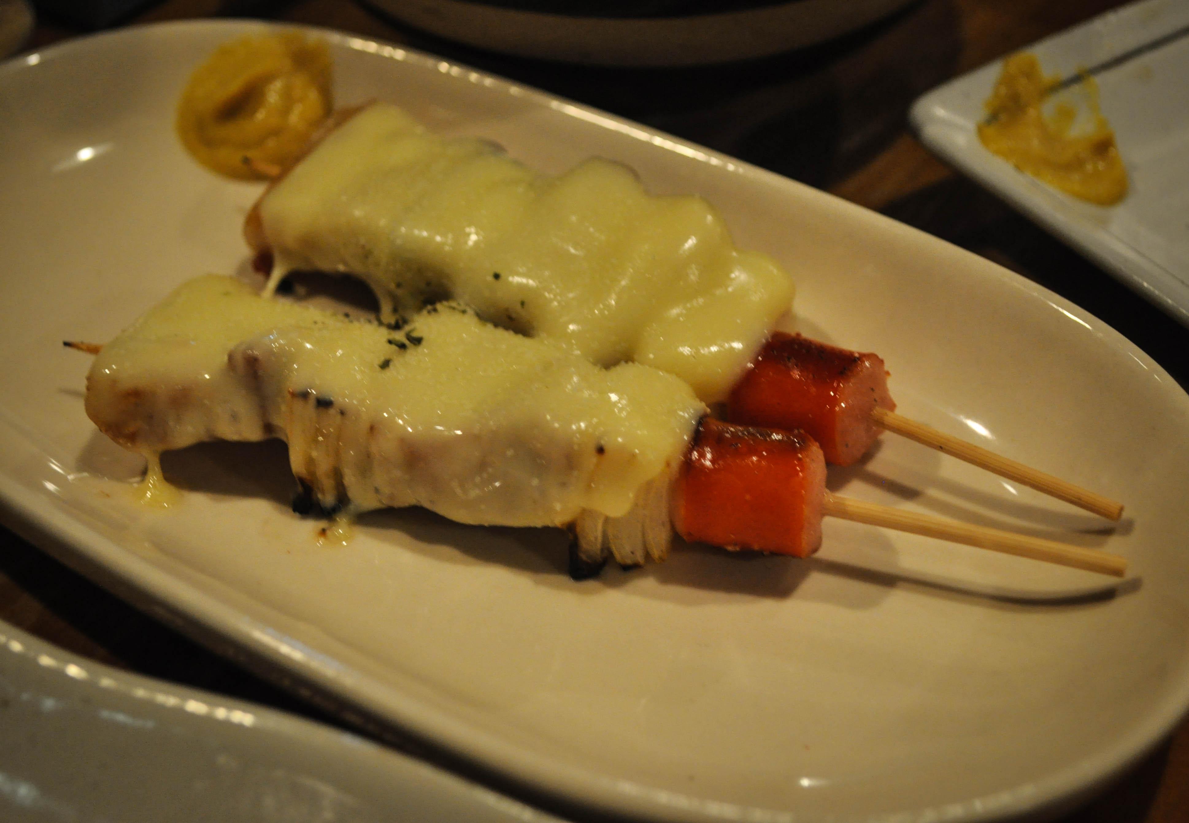 Buta Cheese Yakitori