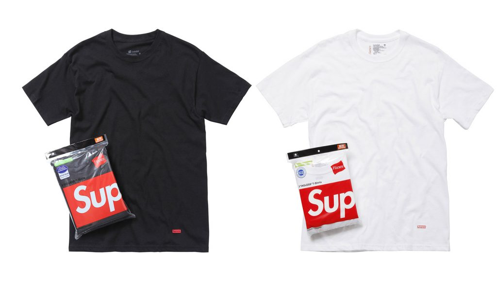 Apart From The Seasonal Hyped Collections Supreme Has Some Regular Items Namely T Shirts Haneore Recently Their Socks