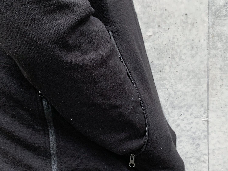 Black hoodie with huge pockets.