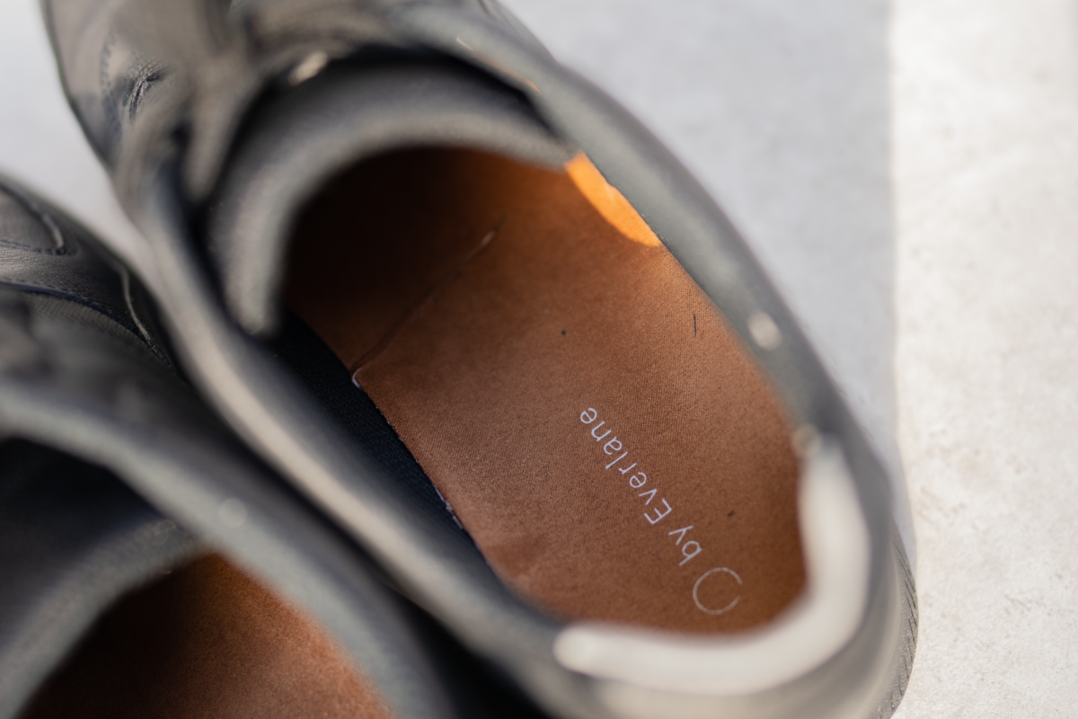 Logo on the Everlane Trainers' insoles.