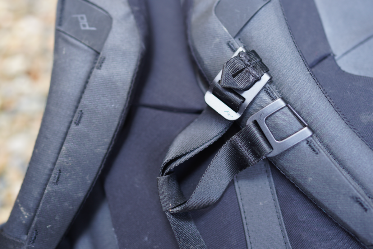 Sternum straps on the Peak Design Everyday Backpack