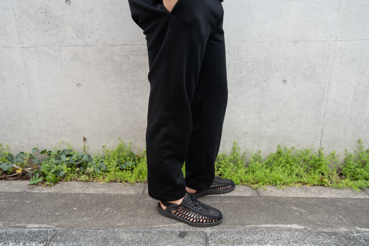 With the KEEN UNEEK Sandal and LWC Sport Trouser