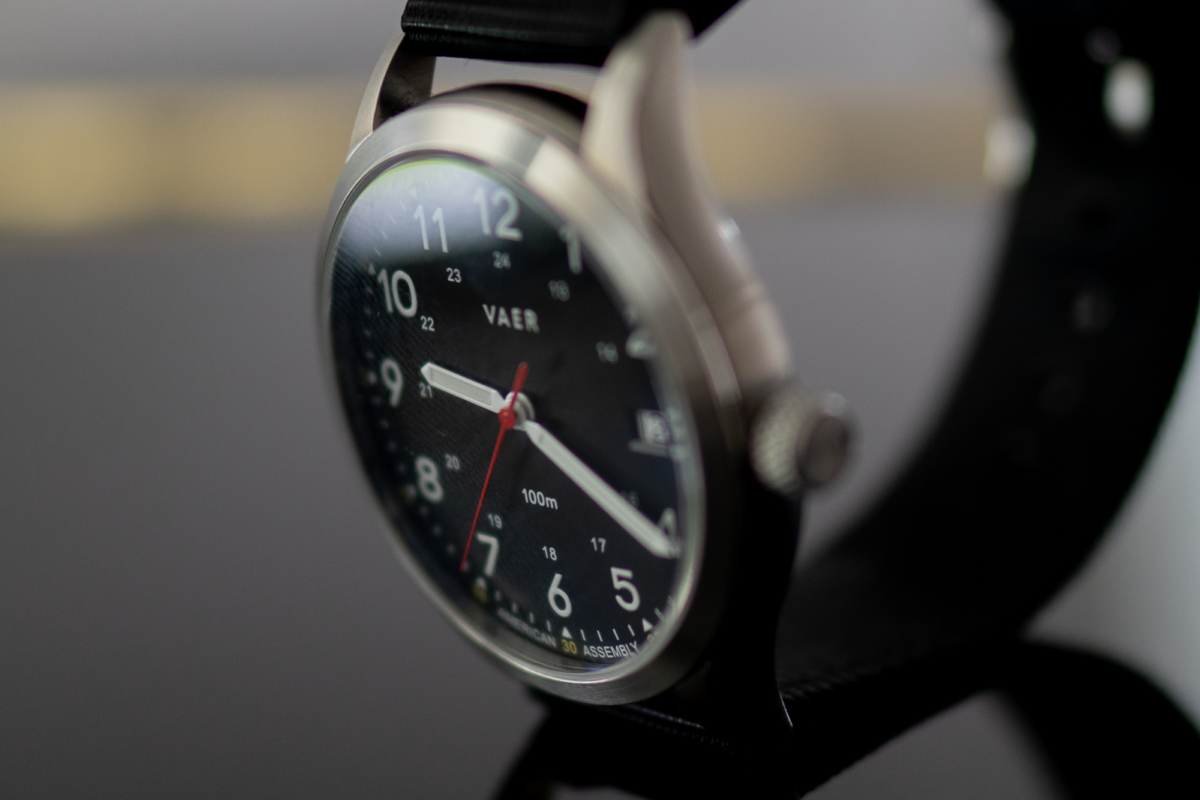 316L Stainless Steel Case on the Vaer C5 Field Watch