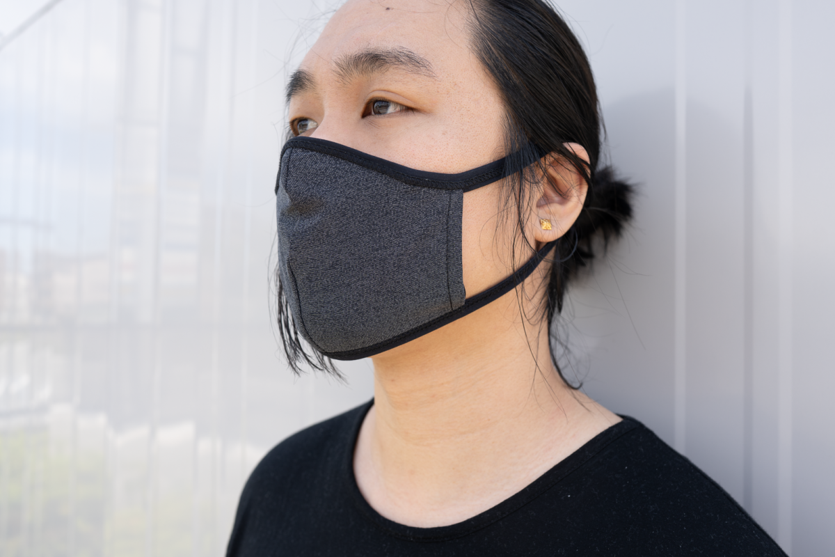 No designed for it but you can wear the GORUCK Face Mask inside out as well.