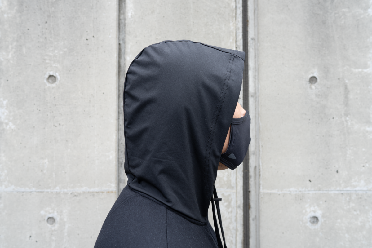 The GORUCK Face Mask looks great with the Wool&Prince Travel Hoodie.