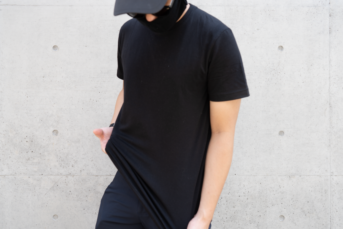 With the SEAGALE Ultralight Cap, Western Rise StrongCore Merino Face Mask, and Western Rise X Cotton Everyday Tee.