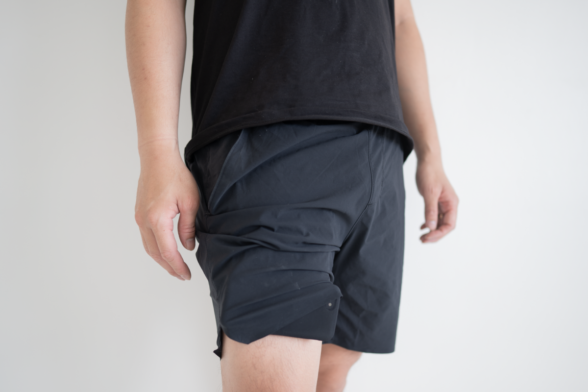 Your pocket's contents will sneak out from below if you get too small a size with the Western Rise Movement Short.