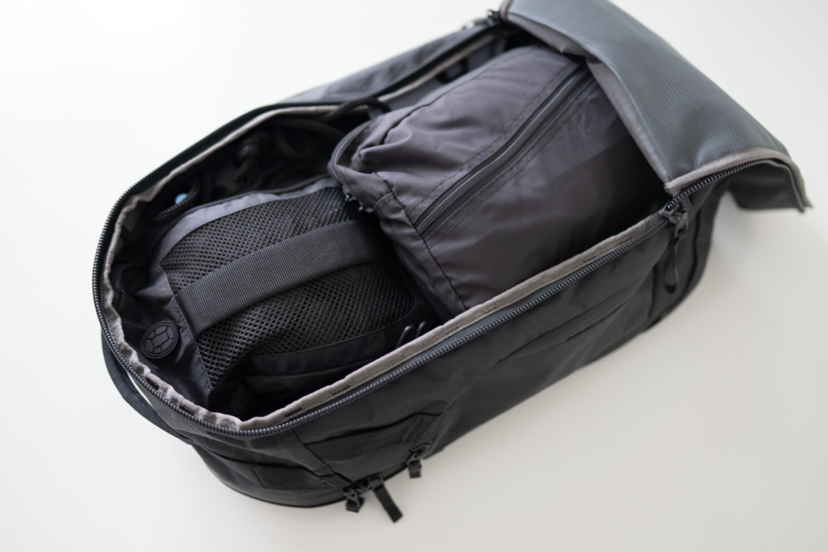 You can travel indefinitely with the Able Carry Max Backpack.