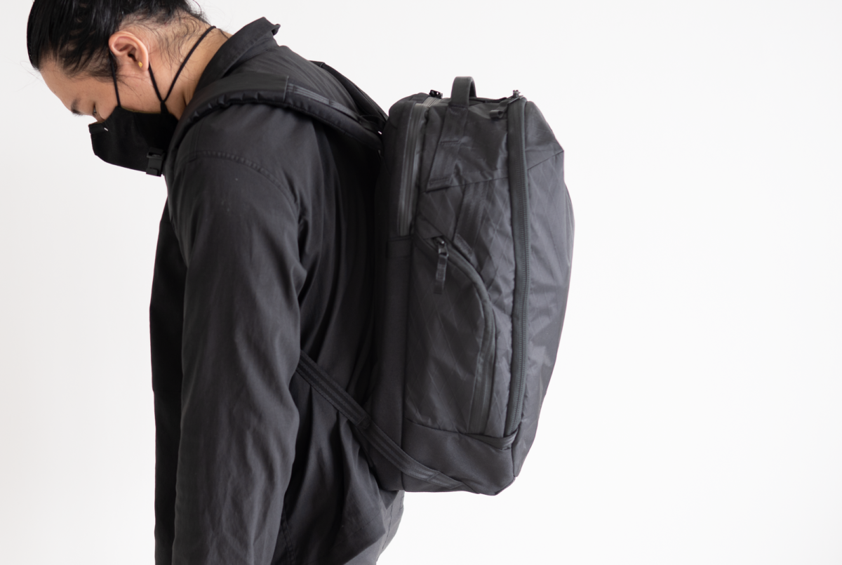 The Able Carry Max Backpack is not too big for a daily carry.