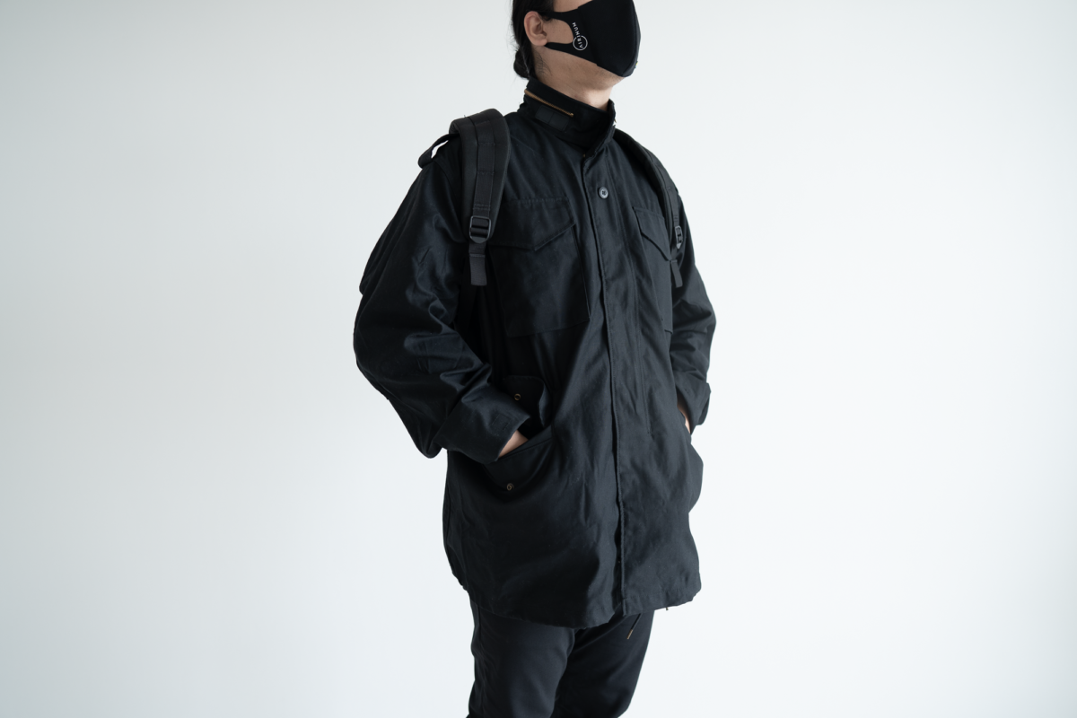 Alpha Industries M-65 have pockets that fit your hands well.