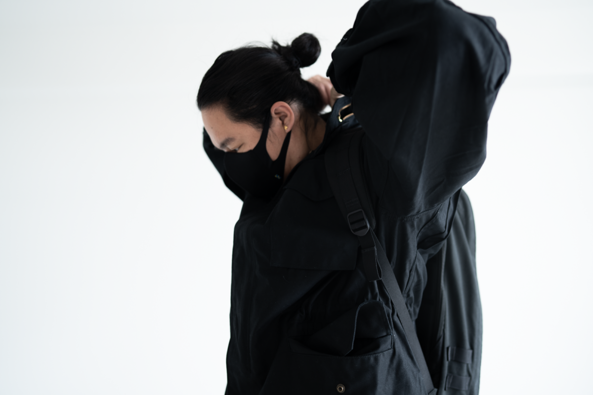 Hard to pull the hood out of the Alpha Industries M-65.