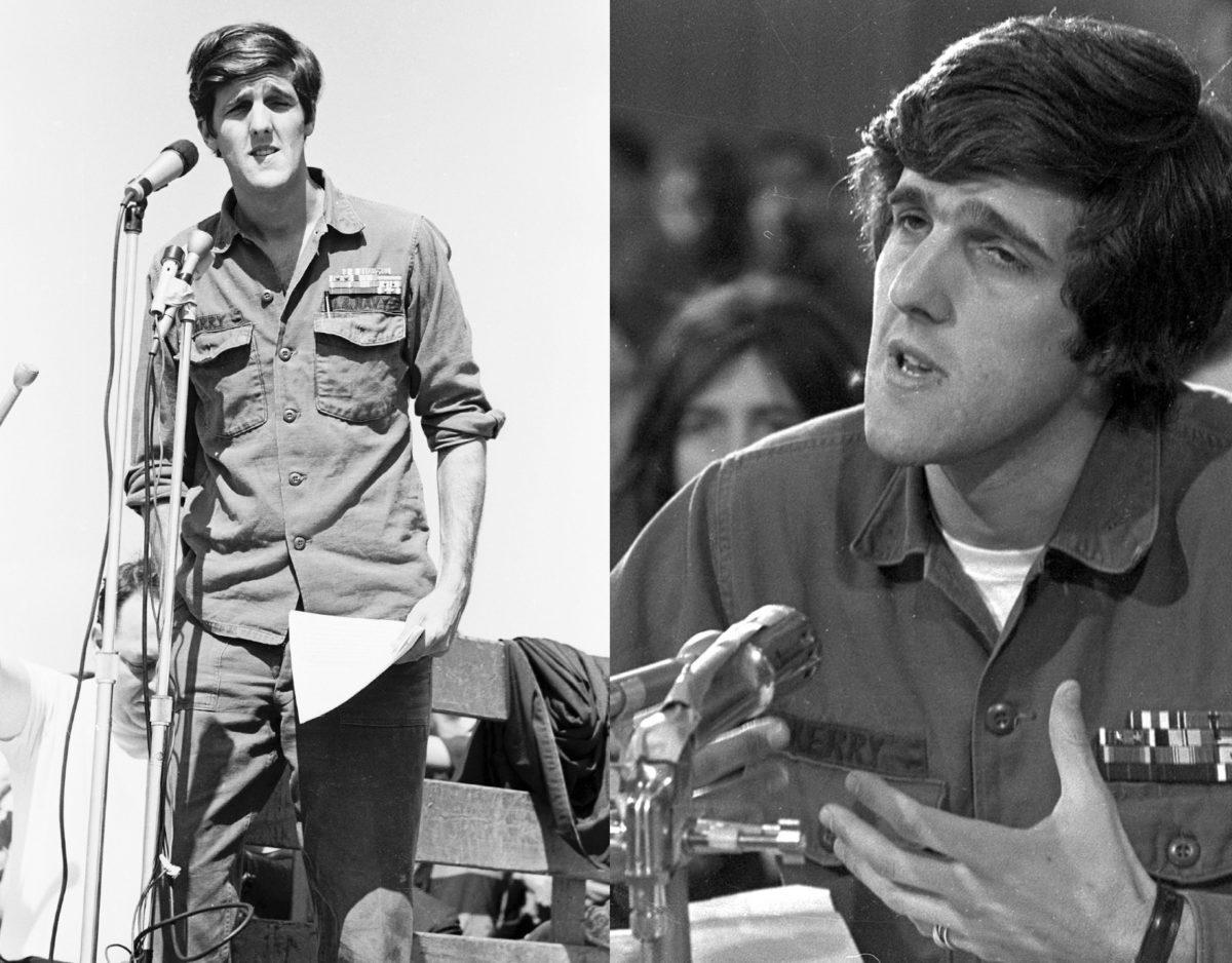 John Kerry in a M-65 jacket.