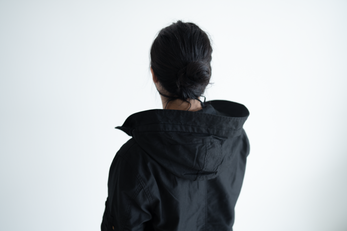 The generous hood of the Alpha Industries M-59.