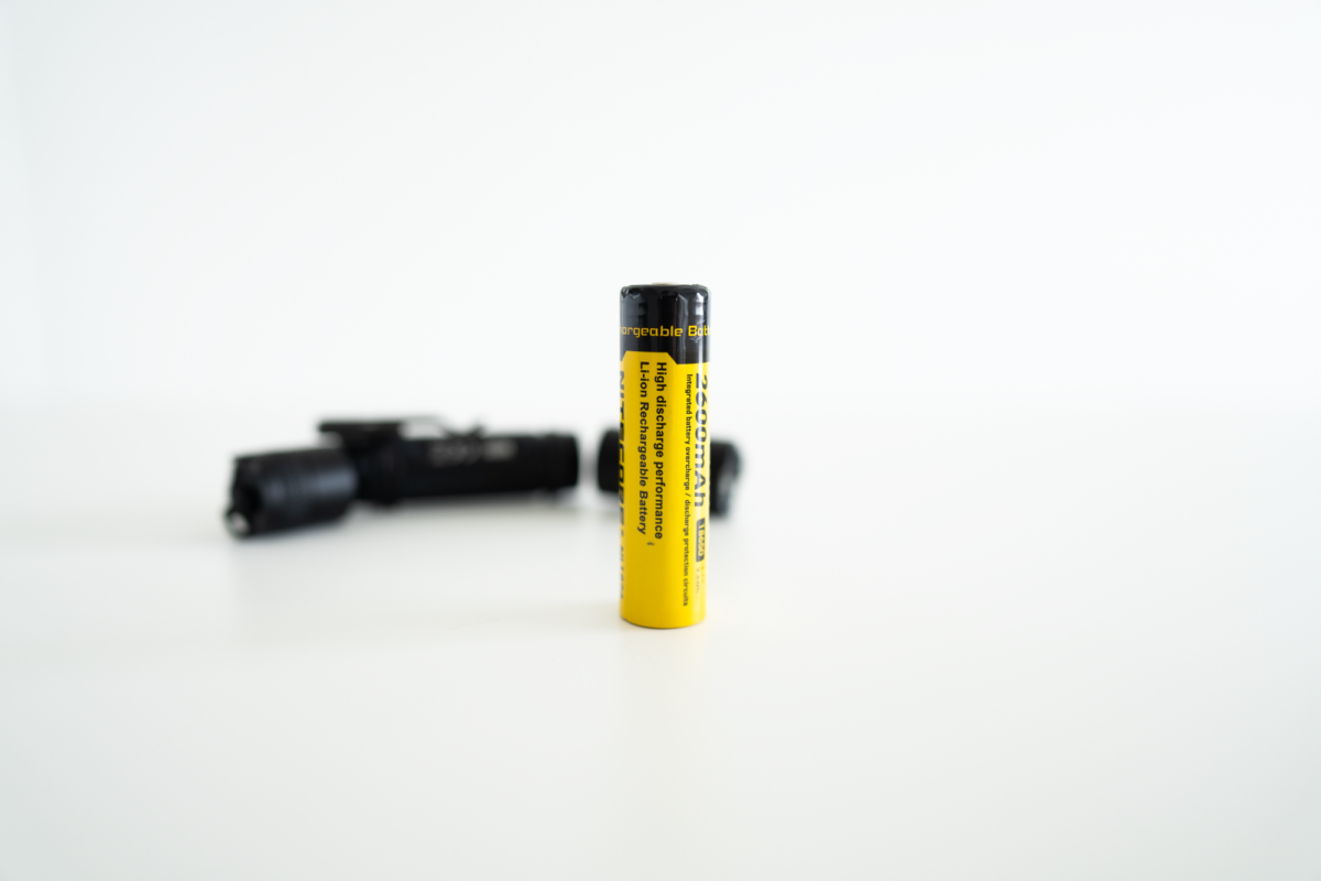 Battery included with the Nitecore MH11.