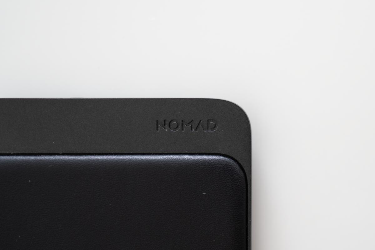 Beautiful debossed NOMAD logo on the NOMAD Base Station Mini.