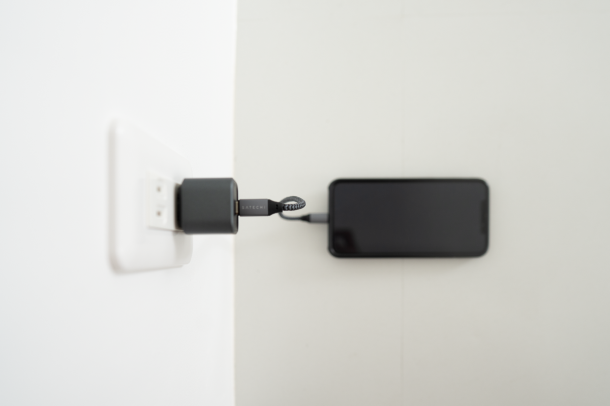 The NOMAD 20W Power Adapter with the Satechi 10-Inch USB-C to Lightning Cable.