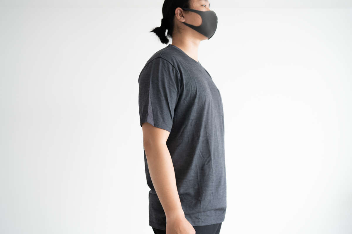 The fit of the Wool&Prince Pocket Tee.